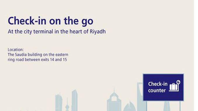 Saudi Arabian Airlines improves Riyadh city check-in