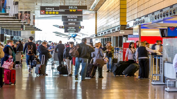 Sea-Tac Airport ticketing area