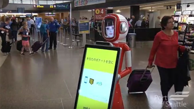 Seattle-Tacoma tests robots at security