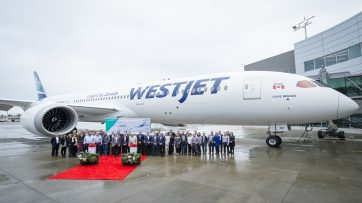 WestJet first Boeing 787 Dreamliner