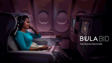 Fiji Airways economy passengers can now bid for Business Upgrades
